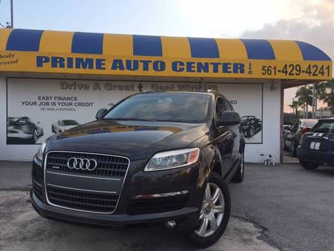 2007 Audi Q7 for sale at PRIME AUTO CENTER in Palm Springs FL