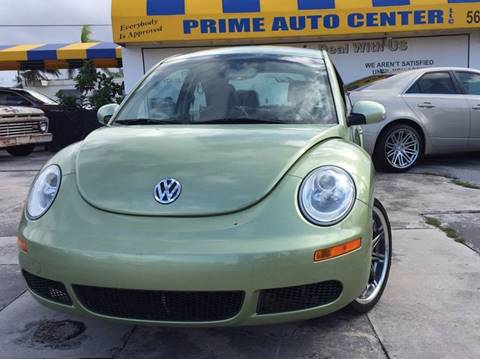 2010 Volkswagen New Beetle for sale at PRIME AUTO CENTER in Palm Springs FL