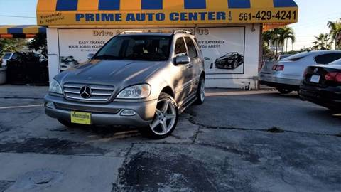 2005 Mercedes-Benz M-Class for sale at PRIME AUTO CENTER in Palm Springs FL