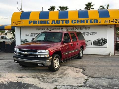 2004 Chevrolet Suburban for sale at PRIME AUTO CENTER in Palm Springs FL