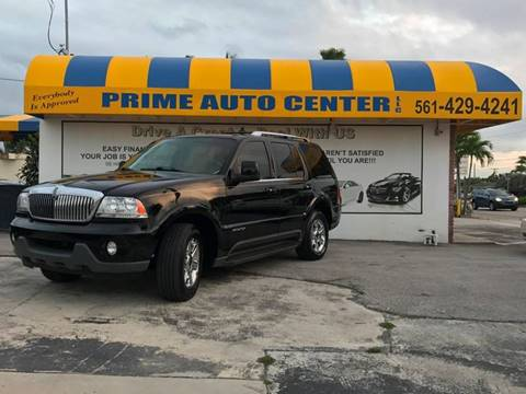 2005 Lincoln Aviator for sale at PRIME AUTO CENTER in Palm Springs FL