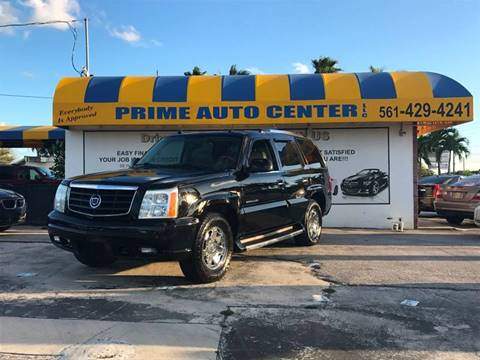 2004 Cadillac Escalade for sale at PRIME AUTO CENTER in Palm Springs FL