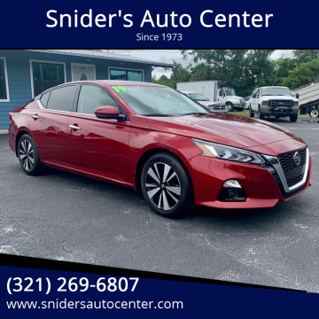 2019 Nissan Altima 2.5 SV for sale at Snider's Auto Center in Titusville FL