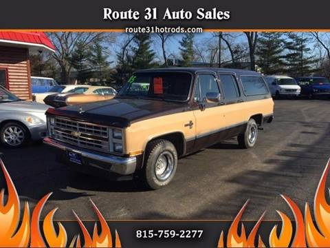 1985 Chevrolet Suburban for sale at ROUTE 31 AUTO SALES in McHenry IL