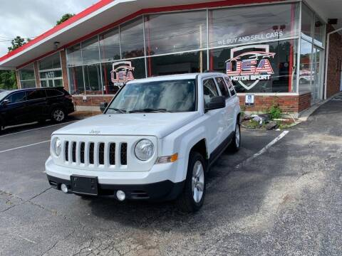 2016 Jeep Patriot for sale at USA Motor Sport inc in Marlborough MA
