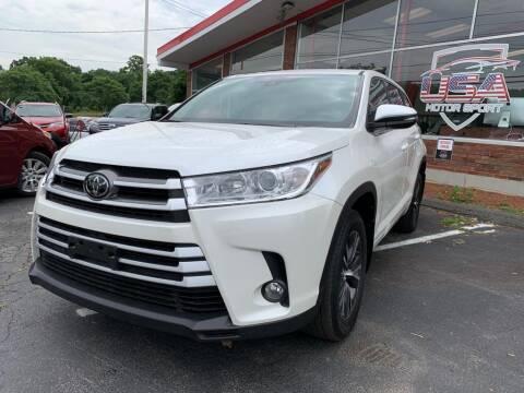 2017 Toyota Highlander for sale at USA Motor Sport inc in Marlborough MA