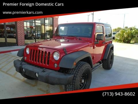 2014 Jeep Wrangler for sale in Houston, TX
