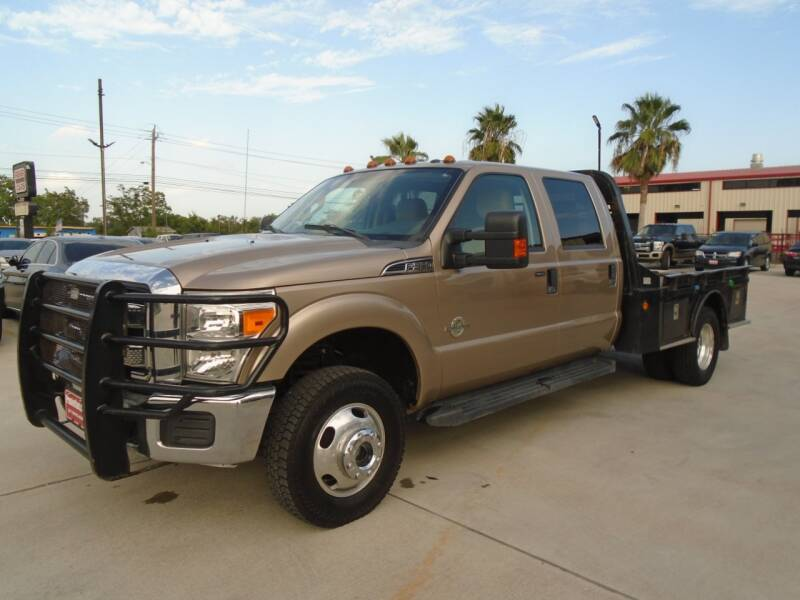 2014 Ford F-350 Super Duty 4x4 XLT 4dr Crew Cab 176 in. WB DRW Chassis - Houston TX