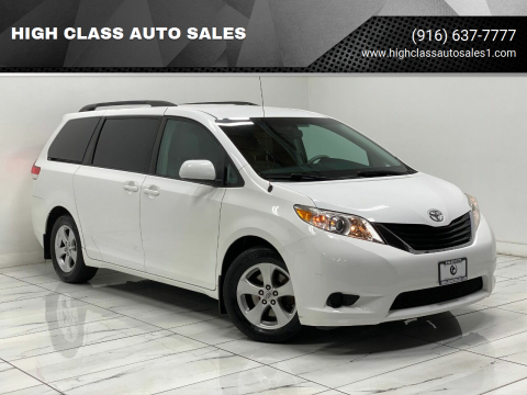2013 Toyota Sienna for sale at HIGH CLASS AUTO SALES in Rancho Cordova CA