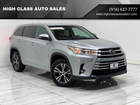 2017 Toyota Highlander for sale at HIGH CLASS AUTO SALES in Rancho Cordova CA
