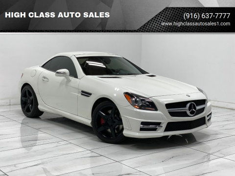 2013 Mercedes-Benz SLK for sale at HIGH CLASS AUTO SALES in Rancho Cordova CA
