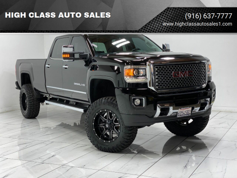 2015 GMC Sierra 3500HD for sale at HIGH CLASS AUTO SALES in Rancho Cordova CA