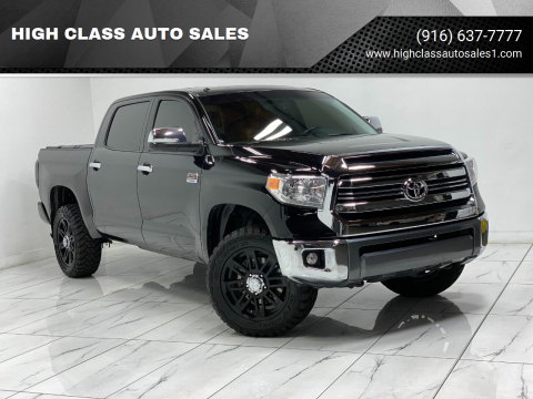 2017 Toyota Tundra for sale at HIGH CLASS AUTO SALES in Rancho Cordova CA