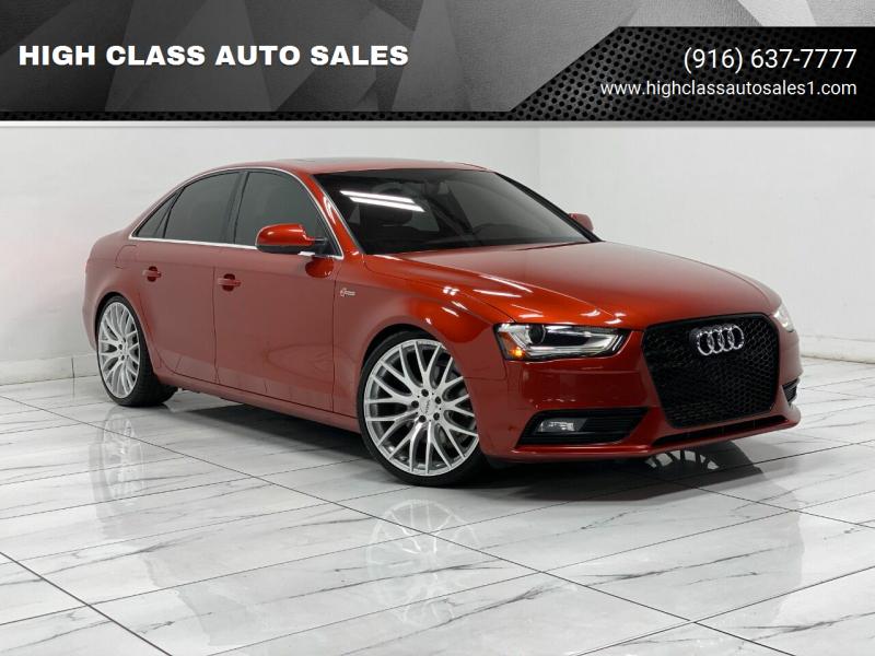 2013 Audi A4 for sale at HIGH CLASS AUTO SALES in Rancho Cordova CA