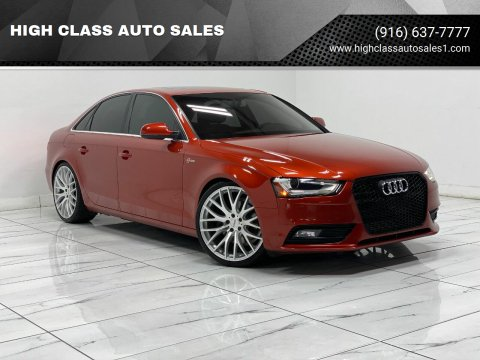 2013 Audi A4 for sale at HIGH CLASS AUTO SALES in Rancho Cordova CA