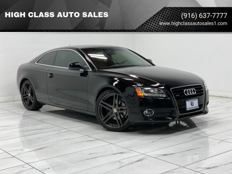 2010 Audi A5 for sale at HIGH CLASS AUTO SALES in Rancho Cordova CA
