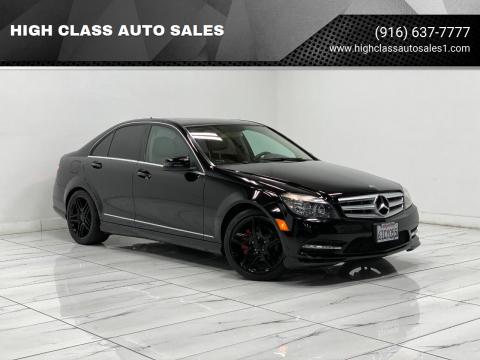 2011 Mercedes-Benz C-Class for sale at HIGH CLASS AUTO SALES in Rancho Cordova CA