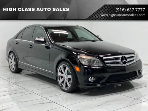 2008 Mercedes-Benz C-Class for sale at HIGH CLASS AUTO SALES in Rancho Cordova CA