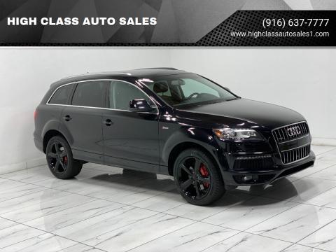 2013 Audi Q7 for sale at HIGH CLASS AUTO SALES in Rancho Cordova CA