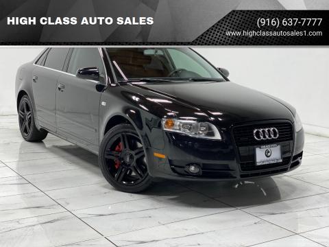 2007 Audi A4 for sale at HIGH CLASS AUTO SALES in Rancho Cordova CA