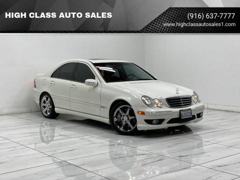 2007 Mercedes-Benz C-Class for sale at HIGH CLASS AUTO SALES in Rancho Cordova CA