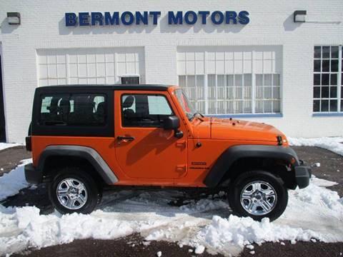 2012 Jeep Wrangler Sport for sale in Gilbertsville, PA