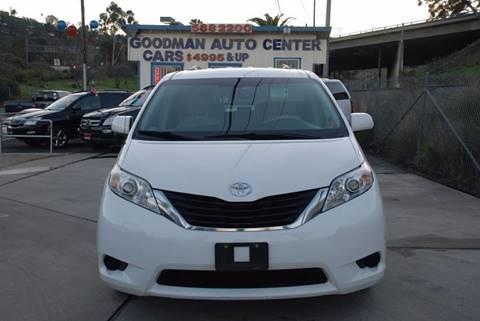 2012 Toyota Sienna for sale in El Cajon, CA
