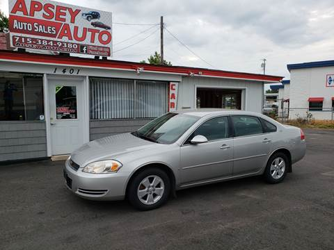 2007 Chevrolet Impala for sale at Apsey Auto 2 in Marshfield WI