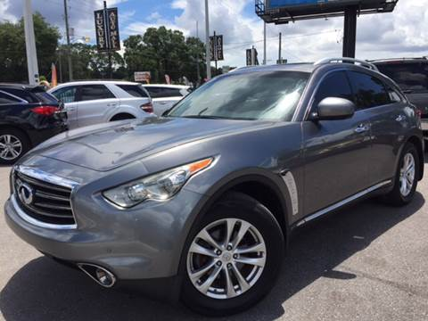 2013 Infiniti FX37 for sale at LUXURY AUTO MALL in Tampa FL