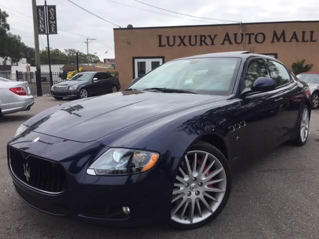 2012 Maserati Quattroporte for sale at LUXURY AUTO MALL in Tampa FL