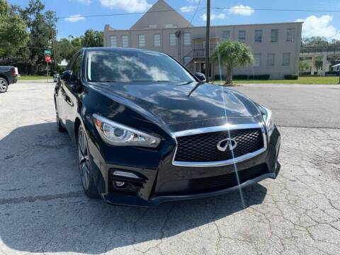 2014 Infiniti Q50 Hybrid for sale at LUXURY AUTO MALL in Tampa FL