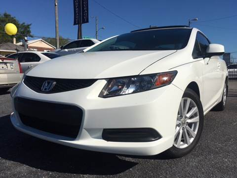 2012 Honda Civic for sale at LUXURY AUTO MALL in Tampa FL