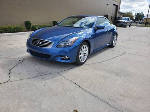 2013 Infiniti G37 Convertible for sale at Turbo Toys in Tampa FL