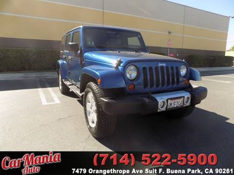 2010 Jeep Wrangler Unlimited for sale in Buena Park, CA