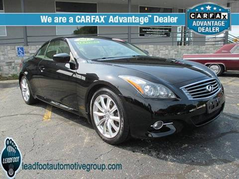 2013 Infiniti G37 Convertible for sale in Holland, MI