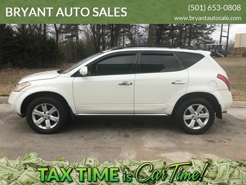 2007 Nissan Murano SL for sale at BRYANT AUTO SALES in Bryant AR