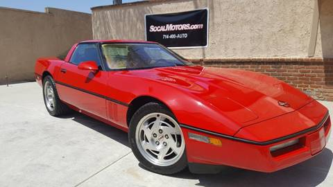 1990 Chevrolet Corvette for sale at SoCal Motors in Los Alamitos CA