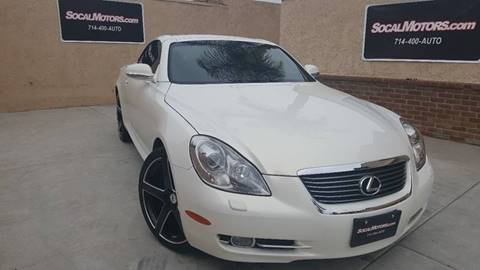 2006 Lexus SC 430 for sale at SoCal Motors in Huntington Beach CA