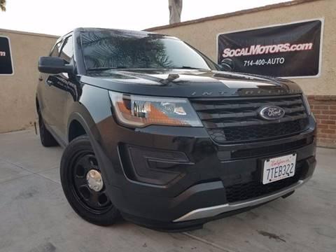2016 Ford Explorer for sale at SoCal Motors in Los Alamitos CA