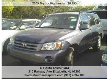 2005 Toyota Highlander for sale in Elizabeth, NJ