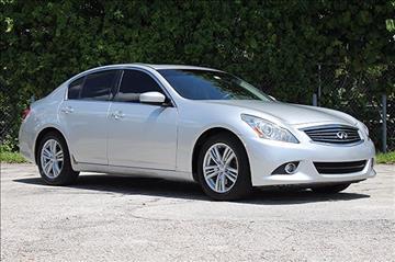 2011 Infiniti G25 Sedan for sale in Hollywood, FL