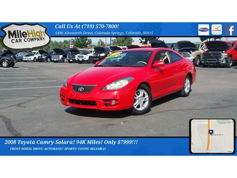 2008 Toyota Camry Solara for sale in Colorado Springs, CO
