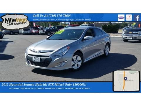 2012 Hyundai Sonata Hybrid for sale in Colorado Springs, CO