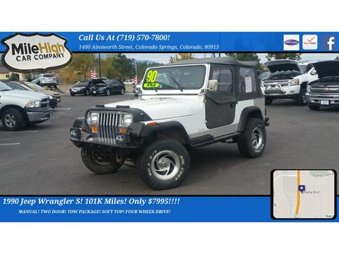 1990 Jeep Wrangler for sale in Colorado Springs, CO