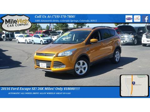 2016 Ford Escape for sale in Colorado Springs, CO