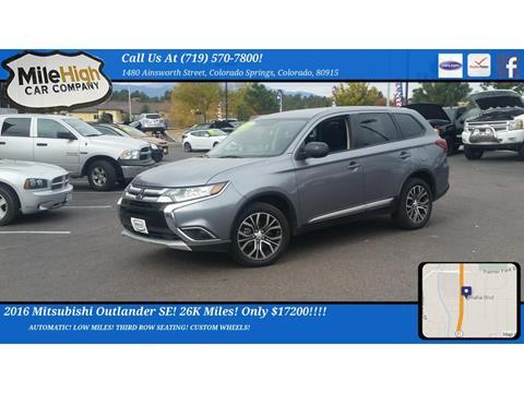 2016 Mitsubishi Outlander for sale in Colorado Springs, CO