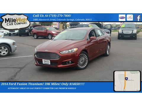 2014 Ford Fusion for sale in Colorado Springs, CO