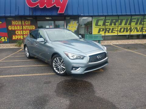 2018 Infiniti Q50 for sale at CITY SELECT MOTORS in Galesburg IL