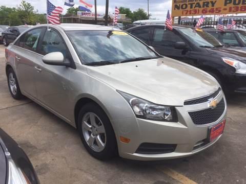2014 Chevrolet Cruze for sale at JORGE'S MECHANIC SHOP & AUTO SALES in Houston TX