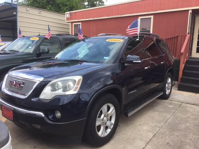 Suv Auto Sales Houston Tx: 2008 Gmc Acadia SLT-1 4dr SUV In Houston TX